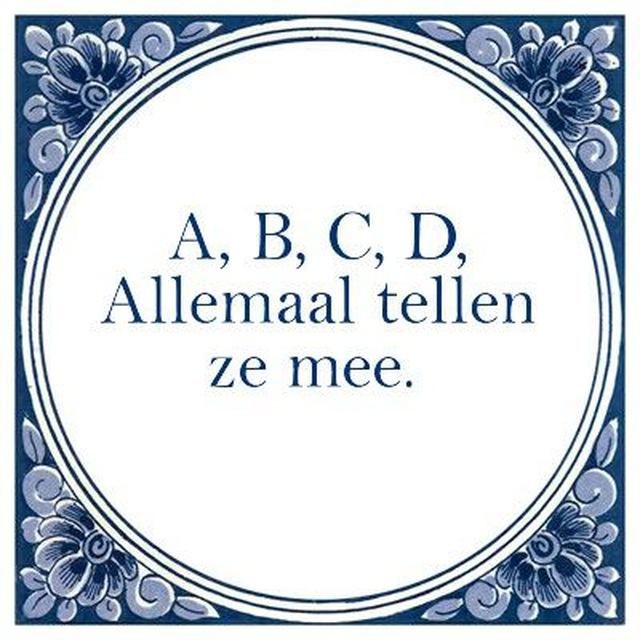 A, B, C, D, Allemaal tellen ze mee.